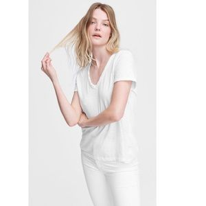 Rag & Bone Core V Neck Tee in White.